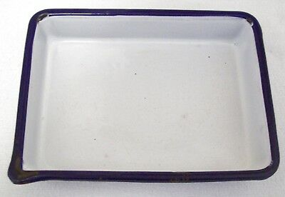 Vintage Cesco Enamelware Photographic Tray Acid Resistant Columbian Made 8""