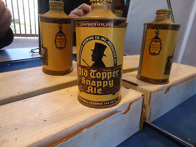 Old Topper Snappy ale cone  top beer can  IRTP Rochester NY