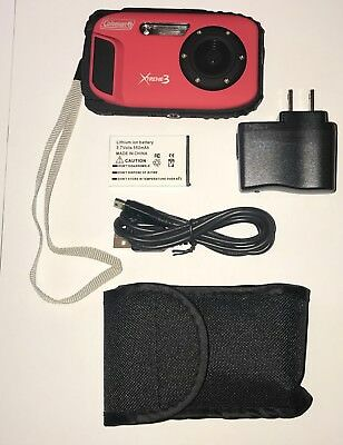 Coleman C9WP Xtreme3 20 MP Waterproof Digital Camera with Full 1080p HD - RED