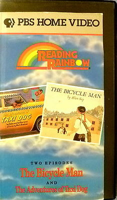 Reading Rainbow The Bicycle Man & Adventures Of A Taxi Dog Vhs Videotape