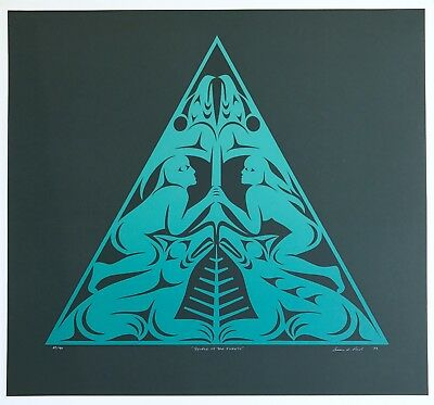 "SUSAN POINT ""People Of The Forest"" COAST SALISH Ltd Ed 43/90 Signed NATIVE TRIBE"