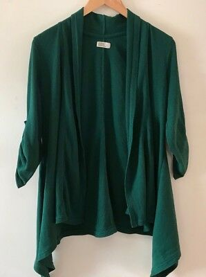 Women's OLD NAVY Maternity Open Front Shirt Green Size Large