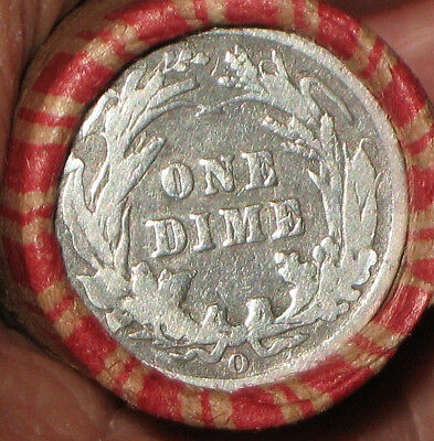 """Wheat Penny Roll """"o"""" Mint Silver Barber Dime And  """"s"""" Mint Barber Diime R628"""