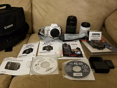 Canon EOS Rebel SL1 / EOS 100D 18.0MP Digital SLR Camera - White Kit w/ Flash
