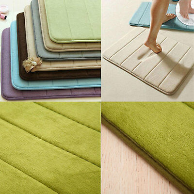50x80cm Soft Memory Foam Bath Bathroom Bedroom Floor Shower Mat Rug Non-slip AU