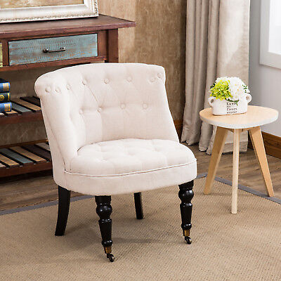 Beige French Provincial Lorraine Fabric Chair Sofa Living Dining Room Furniture