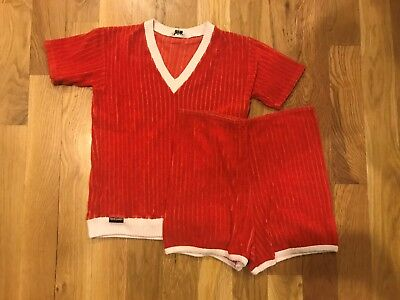 Vintage Pierre Cardin Two Piece Top and Shorts Set Red S