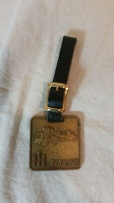 Vintage Brass IH International Harvester Pay line Scraper Key Chain
