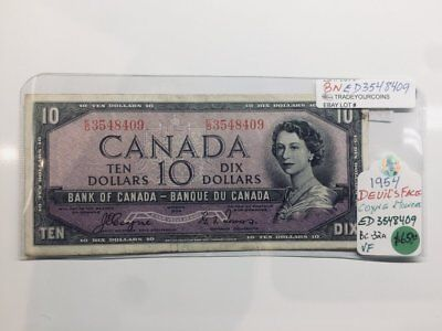 1954 Bank of Canada Devils Face 10 Dollars-Coyne & Towers BNED3548409