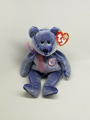 TY Beanie Baby - PERIWINKLE the e-Bear (8.5 inch) - Stuffed Animal Toy