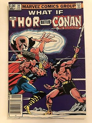 Marvel What If # 39 Thor Battled Conan Nm 1983 Bronze Age Comic
