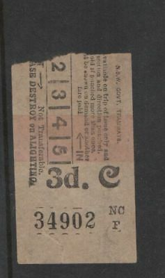 NEWCASTLE NSW SHOPS 1948 3d TRAM TICKET $5