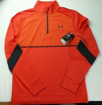 Under Armour Men/'s Pitch 1//4 Zip Fitted Top Training Shirt Large Red STORM 1 New