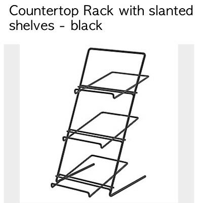 Black Countertop Rack Wire Slanted Shelves Candy Display