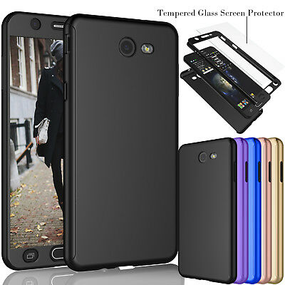 For Samsung Galaxy J7 Sky Pro / j7 2017 Protective Case Cover +Tempered Glass