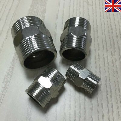 UK Reducing Nipple BSP Male to Male Stainless Steel Adapters Hexagon