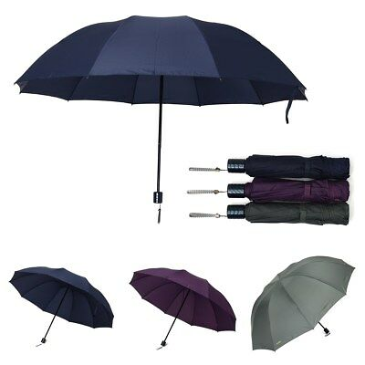 "AU Extra Large 50"" Umbrella Men Women Folding Umbrella Anti-UV Windproof Rain"