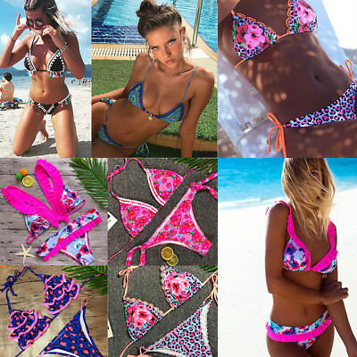 Women Push-up Padded Bra Bandage Bikini Set Swimsuit Swimwear Bathing Suit Lot
