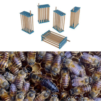 5Pcs 3mm Bee Queen King Cage Beekeeping Bamboo Multifunction Prisoner Hive Tools