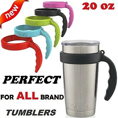 Handles for 20 Oz Tumblers YETI Rambler Cup Holders Anti-Slip Coffee Travel Mugs
