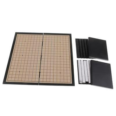 Folding Magnetic Chessboard I-GO Chess Checkers Board Game Set for Traveling