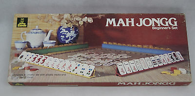 Mah Jongg Beginner's Set Board Game Complete Vintage 1975