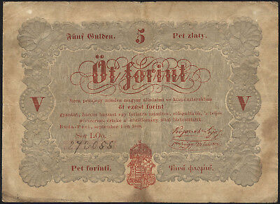 Ungarn / Hungary 5 Forint 1848 Pick S116a (4)