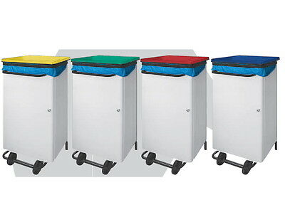 Rubbish Bin Rectangular Cover Colourful Metal Lacquered Steel