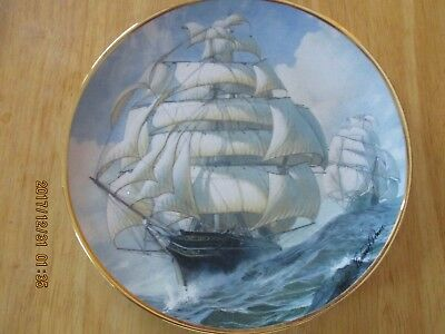 "Franklin Mint Collectors Plate ""Venture on the High Seas""  C2637 Limited Ed."