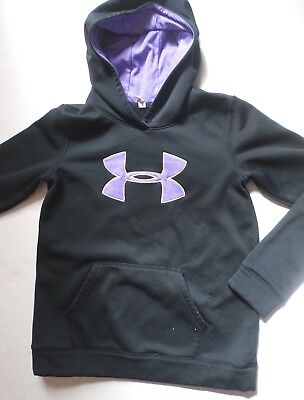 UNDER ARMOUR COLDGEAR LOOSE Black/Purple Pullover Hooded Sweatshirt