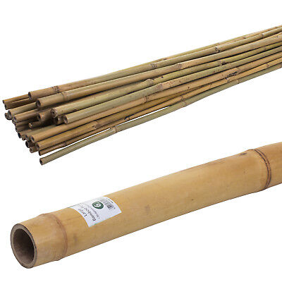 4Ft/6Ft/7Ft/8Ft Bamboo Canes Strong Thick Pole Stick Garden Stake Heavy Duty New
