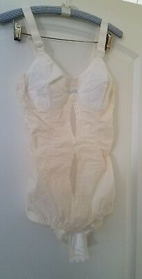 Vintage Playtex I can't belive its a girdle white all in one sz 36b w garters