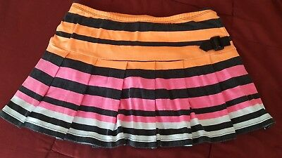 Justice Girls Size 14 Skirt. Striped with White Shorts Underneath