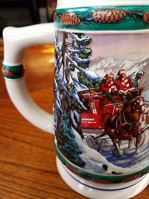 Special Delivery Budweiser Holiday Stein...1993...brazil