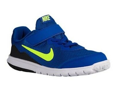 f66ff9162194 Kid s Nike Flex Experience 4 PSV Running Shoes - Royal Volt Black - NIB
