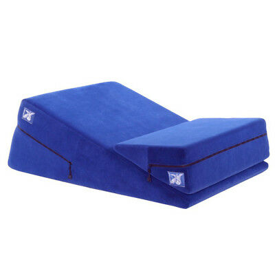 Liberator Wedge Ramp Combo Positioning Pillows - Blue Microfiber