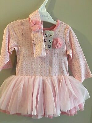 BNWT Nutmeg baby girl outfit,Tutu vest With Hair/Headband,0-3 months.