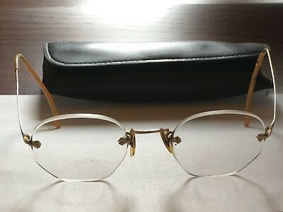 Vintage AO American Optical 01/10 KGF Wire Frame Eyeglasses