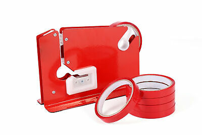 SWIFT Red Metal Bag Neck Sealer Dispenser for Fruit and Veg Bread with Tape