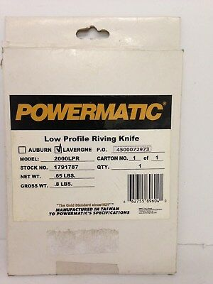 Powermatic 2000LPR: Low Profile Riving Knife for the PM2000 1791787