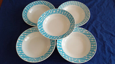 5  Anciennes  Assiettes  Creuses Digoin   ( Domremy )  Tbe
