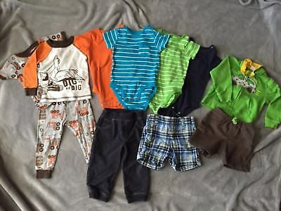CARTER'S Lot of 11 Pieces Baby Boy Clothes Outfit Size 12 Months