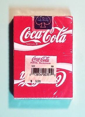 1991 MINT SEALED Coca Cola WIDE SIZE playing cards by USPCC ships free & see pix