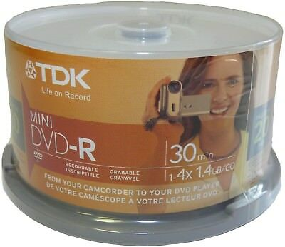 TDK mini DVD-R single layer for camcorder 20 pack