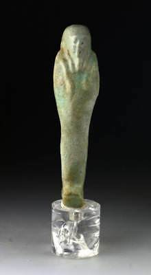 *sc*a Fine Egyptian Green-Torquoise Faiance Ushabti, After 1071 Bc!!