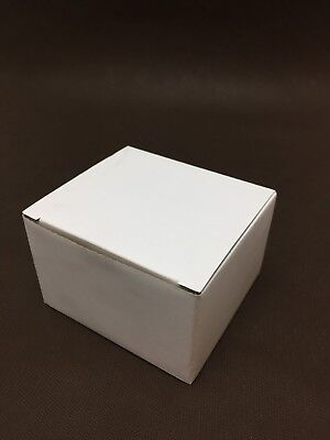 Lot de 10 boite en carton blanc 100x90mm H65mm simple cannelure