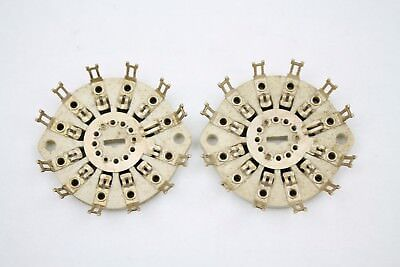2 pieces Centralab 1 Pole 12 Position Vintage Ceramic Rotary Switch Wafer Used