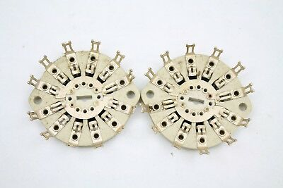 2 pieces Centralab 2 Pole 5 Position Vintage Ceramic Rotary Switch Wafer Used