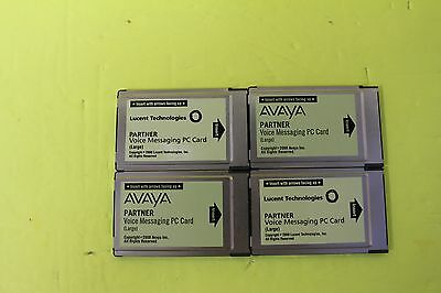 Lot of 4 Avaya Partner Large Card VM Voicemail for ACS - DEFAULTED WITH WARRANTY
