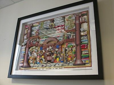 """Charles Fazzino """"Law and Disorder in the Court"""" Deluxe Edition signed numbered"""